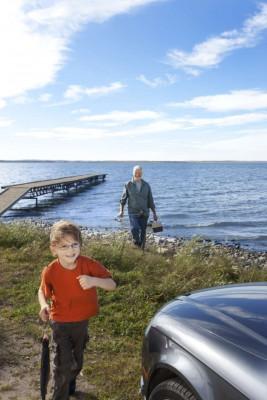 Der See kann teilweise mit dem Auto erreicht werden
