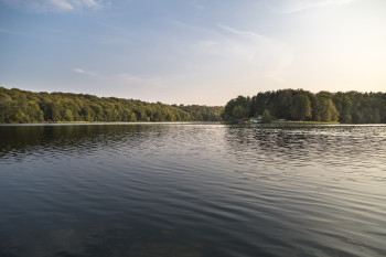 Mitten im See liegt die Insel Großer Werder.