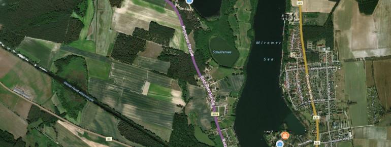 Der Mirower See ist Teil der Mecklenburgischen Seenplatte.