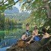 Der Natursee ist ein ideales Ausflugsziel für die ganze Familie.