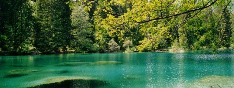 Das glasklare Wasser hat Trinkwasserqualität.