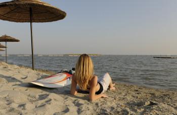 Der Neusiedler See ist ein Eldorado für Surfer