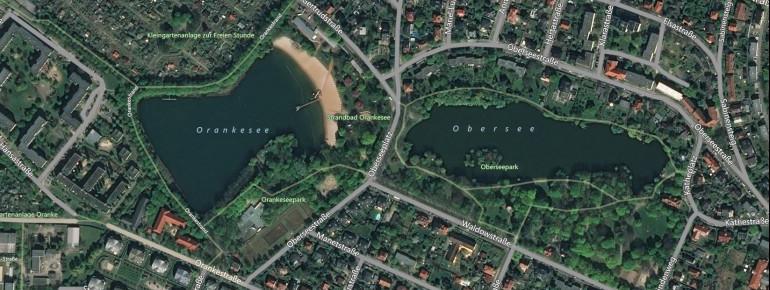 Der Orankesee befindet sich direkt neben dem Obersee.