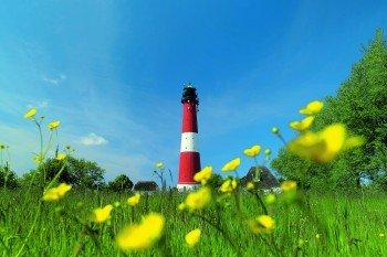 Der Leuchtseeturm von Pellworm wurde 1906 erbaut und ist das Wahrzeichen der Insel.