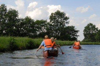 Kanufahren auf dem Schaalseekanal