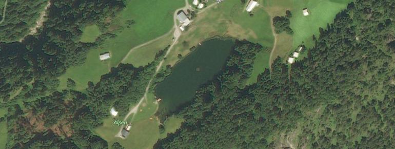 Der Seewaldsee liegt auf einer Höhe von über 1100 Metern.