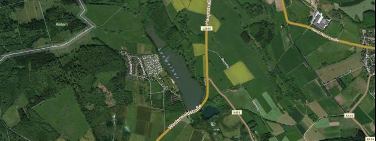 Satellitenbild Seeweiher Mengerskirchen