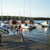 Radwege führen um den See und in das Lausitzer Seenland.