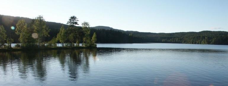 Der Sognsvann ist ein beliebter Badesee im Norden Oslos