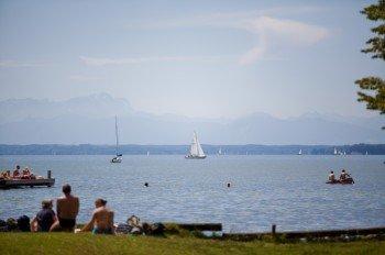 Sonnenbaden am Starnberger See