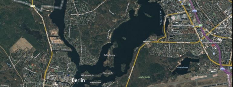 Satellitenbild Tegeler See