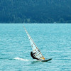 Windsurfer am Westufer des Walchensees
