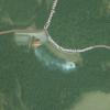 Das Waldbad aus der Luft gesehen.
