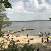 Neben den Badestellen der Campinganalage, bietet der Woblitzsee kaum Bademöglichkeiten.