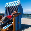 Beach chairs are for rent, and protect you from the wind.