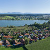 Aerial view of Obing am See.