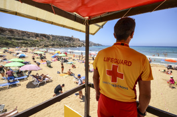 Life guards take care of your safety while you enjoy the beach.