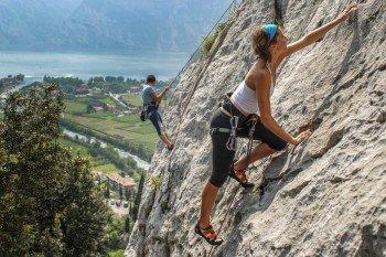 Climbing at Lago di Garda