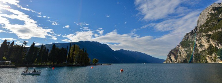 View over the lake from Riva del Garda.