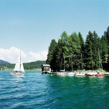 Sailboats on lake Davos