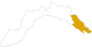 map of all hikes La Spezia