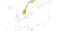 map of all hikes in Norway
