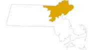 Karte der Wanderungen Boston und Umland
