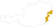 Karte der Wanderungen im Burgenland
