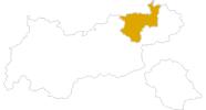 Karte der Wanderungen im Kufsteinerland