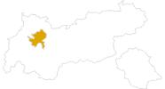 Karte der Wanderungen in der Ferienregion Imst