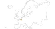Karte der Wanderungen in Belgien
