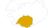 Karte der Wanderungen in Südisland