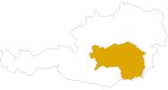 Karte der Wanderungen in der Steiermark
