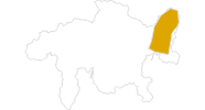Karte der Wanderungen in Scuol Samnaun Val Müstair