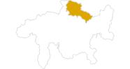 Karte der Wanderungen im Prättigau