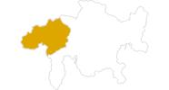 Karte der Wanderwetter in Surselva