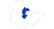 Karte der Bademöglichkeiten Erfurt und Umgebung