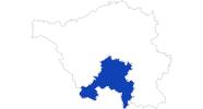Karte der Bademöglichkeiten Saarbrücken