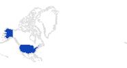 Karte der Bademöglichkeiten in den USA