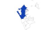 Karte der Bademöglichkeiten in Nord-Auckland
