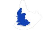 Karte der Bademöglichkeiten in Vest-Agder