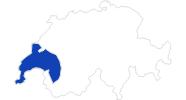 Karte der Bademöglichkeiten im Genferseegebiet