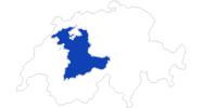 Karte der Bademöglichkeiten im Berner Oberland