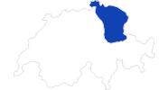 Karte der Bademöglichkeiten in der Ostschweiz
