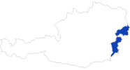 map of all swimming spots in the Burgenland