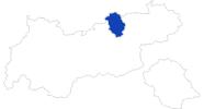 Karte der Bademöglichkeiten am Achensee