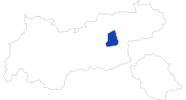 Karte der Bademöglichkeiten Erste Ferienregion im Zillertal