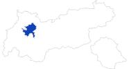 Karte der Bademöglichkeiten in der Ferienregion Imst