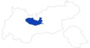 Karte der Bademöglichkeiten Innsbruck & seine Feriendörfer
