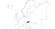 Karte der Bademöglichkeiten in Ungarn